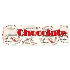 Chocolate Sticker (Bumper 10 pk)