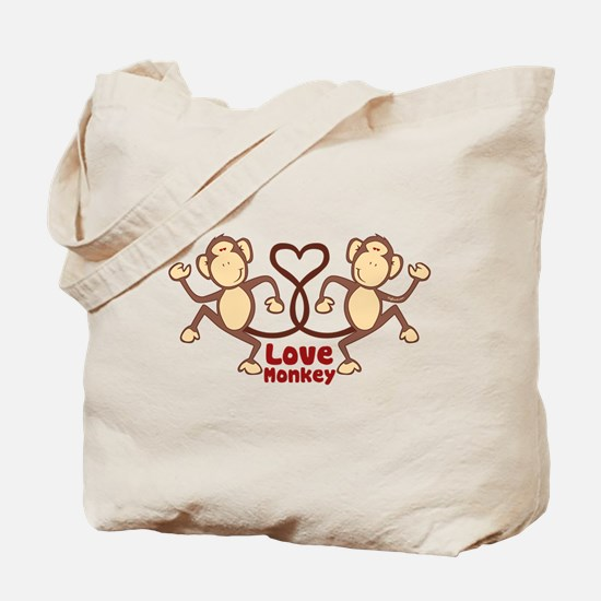 Monkey Tails Heart Tote Bag