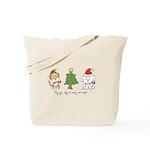 Cat and Dog Christmas Tote Bag