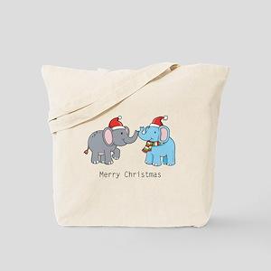 Elephant Christmas Tote Bag