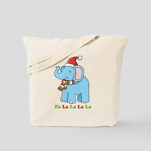 Fa La La La La Elephant Tote Bag