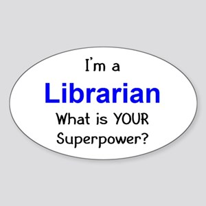 librarian Sticker (Oval)