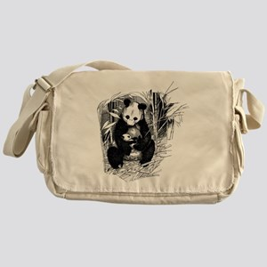 Panda and baby Messenger Bag