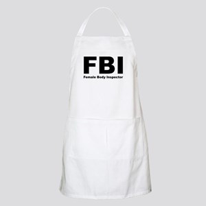 FBI Female Body Inspector BBQ Apron