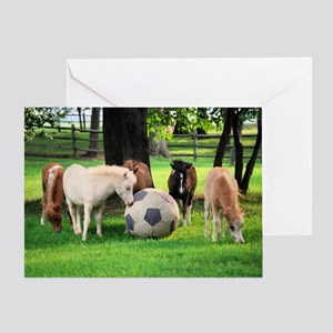 Foal Soccer Game Greeting Card