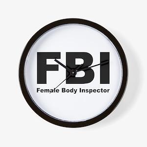 FBI Female Body Inspector Wall Clock