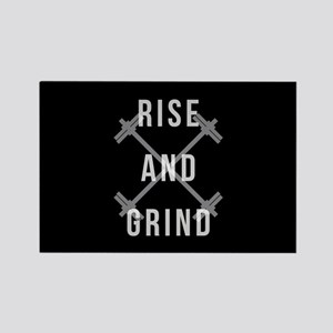Rise and Grind Rectangle Magnet