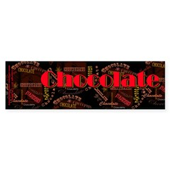 Chocolate Dark Sticker (Bumper)