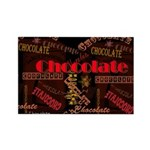 Chocolate Dark Rectangle Magnet (100 pack)