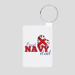 Proud Navy Dad - Aluminum Photo Keychain