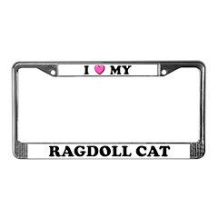I Heart My Ragdoll Cat License Plate Frame
