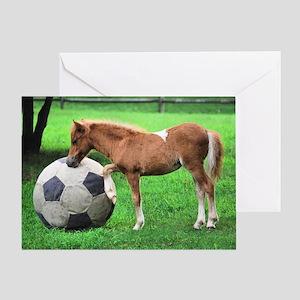 Kick the Ball Greeting Card