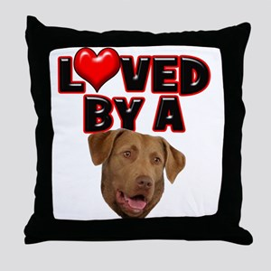 Loved by a Chesapeake Bay Ret Throw Pillow