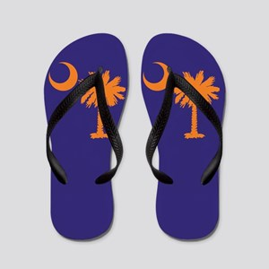 Purple Tiger Flip Flops