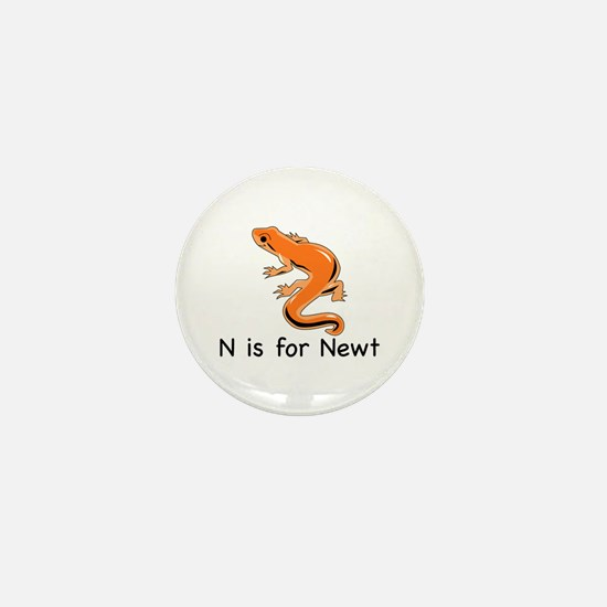 N is for Newt Mini Button