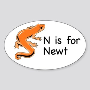 N is for Newt Oval Sticker