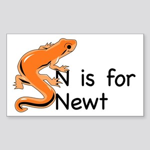 N is for Newt Rectangle Sticker