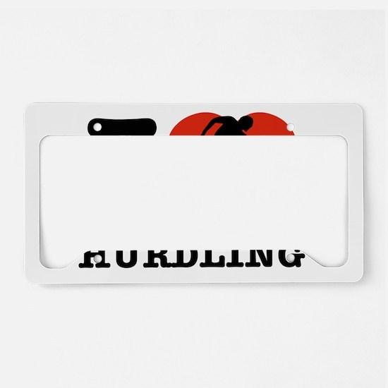 I love Hurdling License Plate Holder