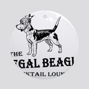 The Regal Beagle Ornament (Round)