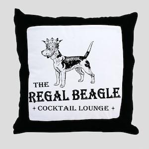 The Regal Beagle Throw Pillow
