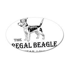 The Regal Beagle 22x14 Oval Wall Peel