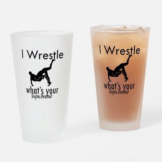 I Wrestle Drinking Glass