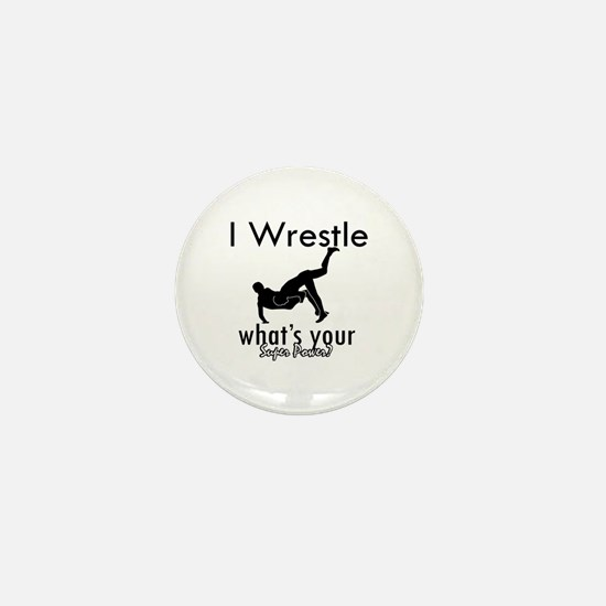 I Wrestle Mini Button