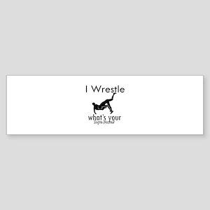 I Wrestle Sticker (Bumper 10 pk)