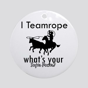 I Teamrope Ornament (Round)