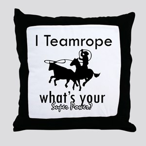 I Teamrope Throw Pillow