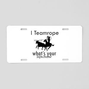 I Teamrope Aluminum License Plate