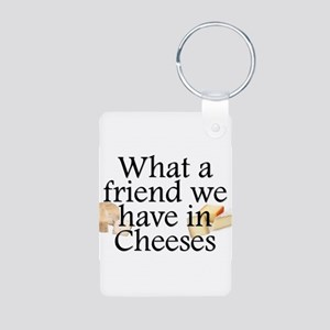 Cheeses Aluminum Photo Keychain