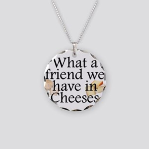 Cheeses Necklace Circle Charm