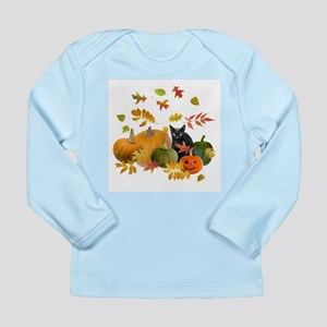 Black Cat Pumpkins Long Sleeve Infant T-Shirt