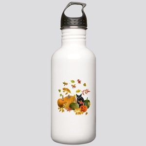 Black Cat Pumpkins Stainless Water Bottle 1.0L