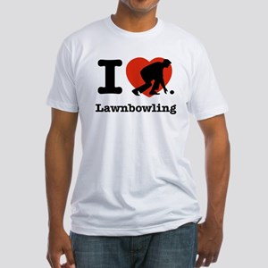 I love Lawn bowling Fitted T-Shirt