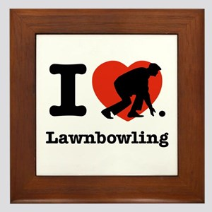 I love Lawn bowling Framed Tile
