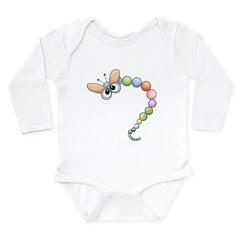 Funny Colorful Dragonfly Long Sleeve Infant Bodysu