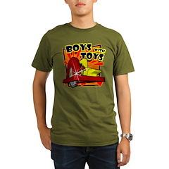 BOY with POWER SAW Organic Men's T-Shirt (dark)