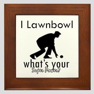 I Lawnbowl Framed Tile