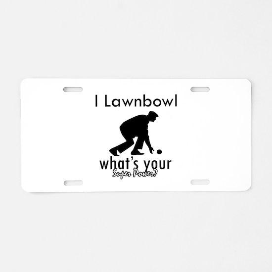 I Lawnbowl Aluminum License Plate