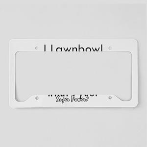 I Lawnbowl License Plate Holder