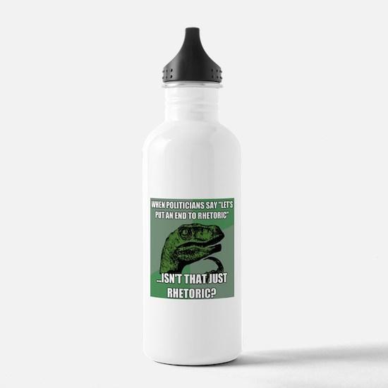 Political Rhetoric Water Bottle