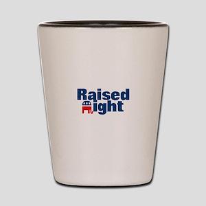 Raised Right Shot Glass