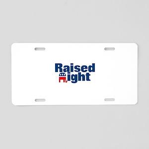 Raised Right Aluminum License Plate