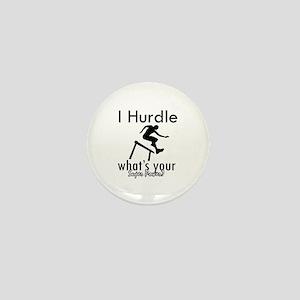 I Hurdle Mini Button