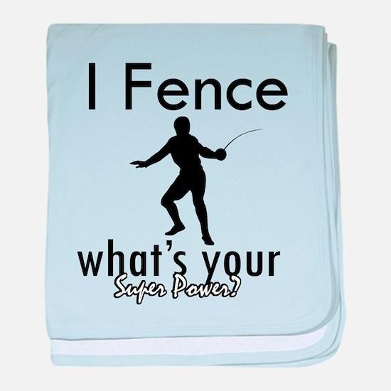I Fence baby blanket