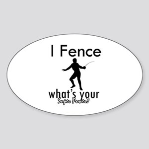 I Fence Sticker (Oval)