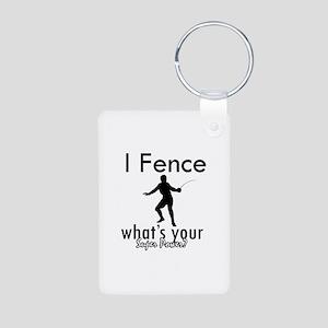 I Fence Aluminum Photo Keychain