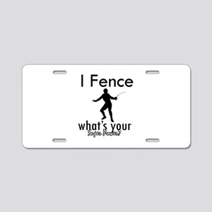 I Fence Aluminum License Plate